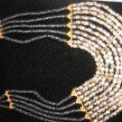 Ethnic Black & Silver Necklace