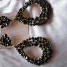 Emerald Green Crystal Encrusted Earrings