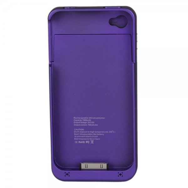 1900mAh Rechargeable Battery Charger Case for iPhone 4/4S