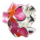 Plumeria Flower Bead Charm