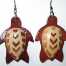 Turtle with chevron design earrings
