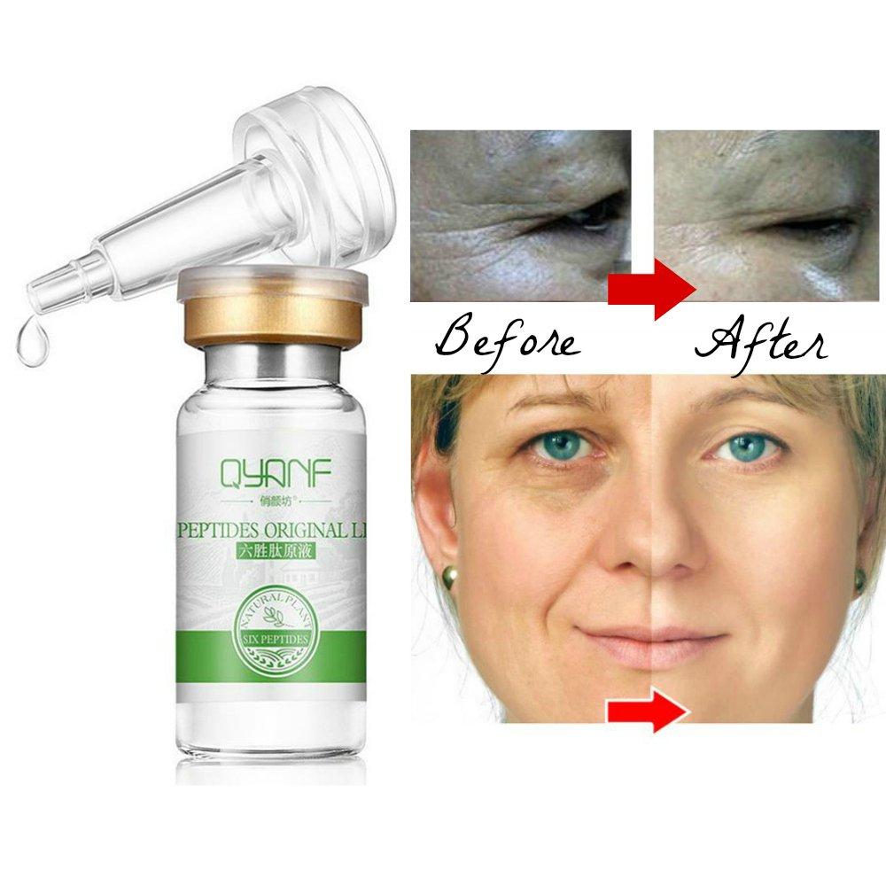 Argireline Aloe Vera Collagen 6 Peptide Serum Anti Wrinkle Aging Face Eye Skin