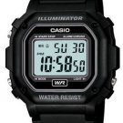 CASIO F108WH-1A MENS BLACK CLASSIC DIGITAL LCD SPORTS WATCH LED STOPWATCH NEW