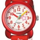 CASIO LTR14B-4A GIRLS CHILDRENS RED STARS CASUAL WATCH 50M WATER RESISTANT