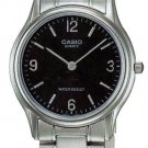 CASIO LTP1218A-1A LADIES ANALOG BLACK DIAL STAINLESS STEEL CASUAL DRESS WATCH
