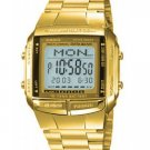 CASIO DB360G-9A MENS MULTI LINGUAL GOLD STAINLESS STEEL DIGITAL DATABANK WATCH