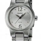 CASIO LTP1289D-7A LADIES STAINLESS STEEL CASUAL DRESS WATCH ANALOG SILVER DIAL