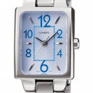 CASIO LTP1294D-2A LADIES BLUE DIAL STAINLESS STEEL DRESS WATCH LARGE NUMERICALS