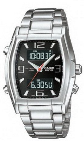 CASIO EDIFICE EFA117D-1AV MENS DIGITAL ANALOG STAINLESS STEEL DRESS WATCH WHITE