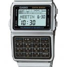 CASIO DBC610A-1A MEN'S VINTAGE STYLE STAINLESS STEEL DATA BANK WATCH WORLD TIME