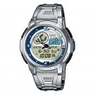 CASIO AQF102WD-2B OUTGEAR MENS STAINLESS STEEL DIGITAL SPORTS THERMOMETER WATCH