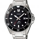 CASIO MDV106D-1A1V MENS DURO 200M DIVER STAINLESS STEEL SPORTS WATCH BLACK DIAL