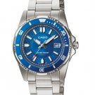 CASIO LTD1061D-2A LADIES STAINLESS STEEL 100M DIVER DRESS WATCH - ROTATING BEZEL