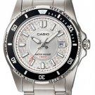 CASIO LTD1061D-7A LADIES STAINLESS STEEL 100M DIVER DRESS WATCH - ROTATING BEZEL