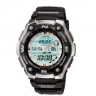 CASIO AQW101-1A MENS ACTIVE DIAL SPORTS WATCH FISHING IND. MOON DATA THERMOMETER