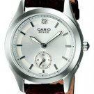 CASIO BESIDE BEL115L-7A LADIES SILVER DIAL DRESS WATCH 50M BROWN LEATHER BAND