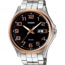 CASIO MTP1319GD-1AV MENS 50M STAINLESS STEEL MODERN DRESS WATCH LARGE NUMBERS