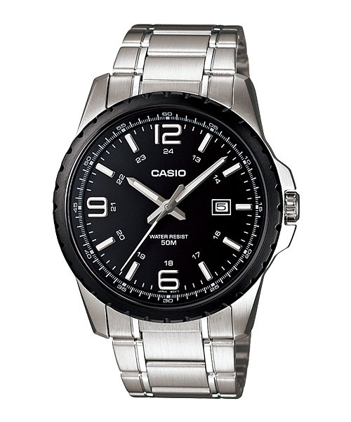 CASIO MTP1328BD-1A1 MENS LUXURY EDITION STAINLESS STEEL CASUAL DRESS WATCH