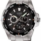 CASIO MTD1069D-1 MENS 100M STAINLESS STEEL DIVER SPORTS WATCH MULTI-DIAL FACE