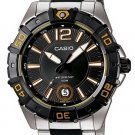 CASIO MTD1070D-1A2 MENS ANALOG STAINLESS STEEL MULTI HANDS 100M DIVER WATCH