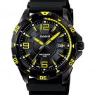 CASIO MTD1065B-1A2 MENS YELLOW ANALOG RACING DIVER SPORTS WATCH 100M RESIN BAND