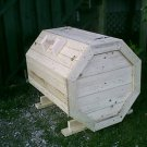 Plans How To Make A Octagon Wood Garbage Storage Recycle Box