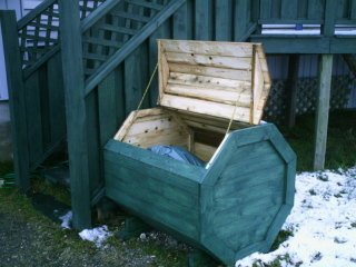 Plans How To Make A Octagon Wood Garbage Storage Recycle Box Download