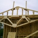 Plans for you to build your own gable Fink wood roof trusses ebook shed house garage free shipping.