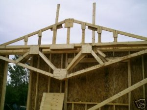 Plans for you to build your own gable fink wood roof for Build your own garage plans free