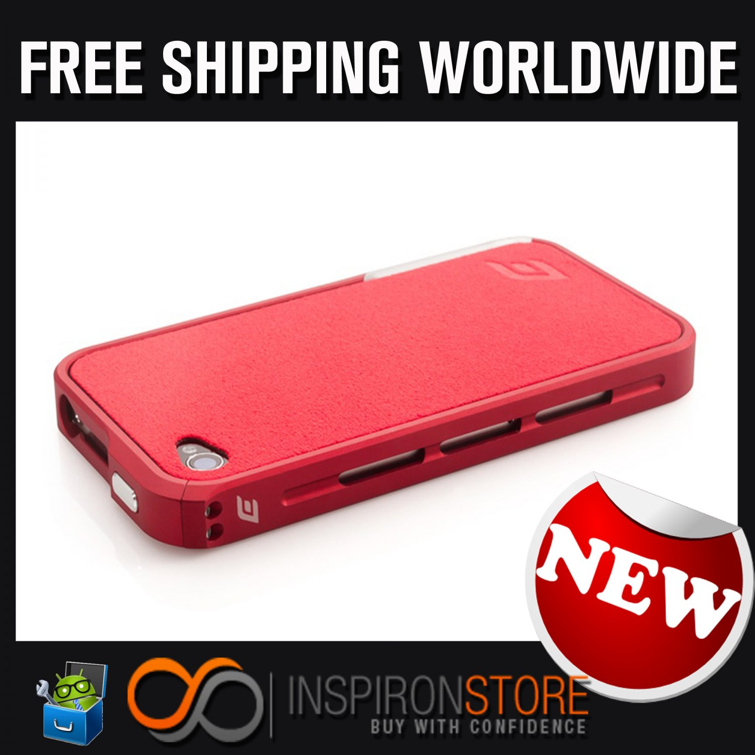 New INSPIRON Element Case Vapor Pro Chroma RED Edition For Iphone 4/4s Free Shipping