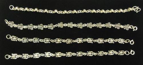 Sterling Silver 7in Bracelets Qty 4