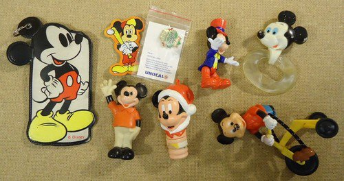 Disney Mickey Mouse Collectable Toys Qty 7 Pin