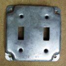 Raco 4in Square 2 Switch Cover Steel