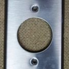 Circular Outlet Cover 4 1/2in x 2 3/4in Aluminum