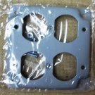 GFCI 2 Receptacle 4in Cover Square Steel