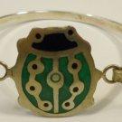 Ladybug Cuff Bracelet Green