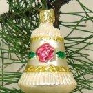 Bell Rose Inge-Glas Ornament Germany Glass