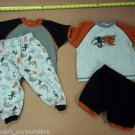Pekkle Boy's 4-Piece Pajama Set Size 2/3