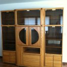 Oak & Glass Entertainment Center Vintage 89in x 78in x