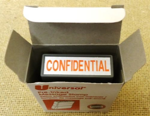 """Universal Pre-Inked Message Stamp """"Confidential"""""""