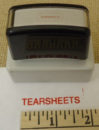 """Tearsheets"" Ink Stamp"