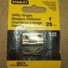 "Stanley Utility Hionge 1"" 80-2000 Satin Brass Tone Fini"