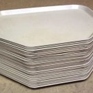Cafeteria Trays Fiberglass 18in x 14in Beige Lot of 25