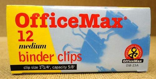 Office Max 0M-23A Medium Binder Clips (qty.12)
