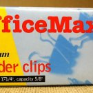 Office Max 0M-23A Medium Binder Clips (qty.12)
