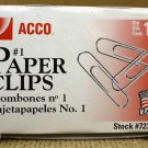 Acco 72380 Small Paper Clips (qty.100)