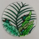 Painted Glass Sun Catcher Tree Frogs Qty 6 Window Hang 2 Holes CL29