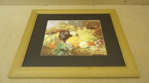 Fruit Still Life Art, Framed Print 23in x 20in x 1in