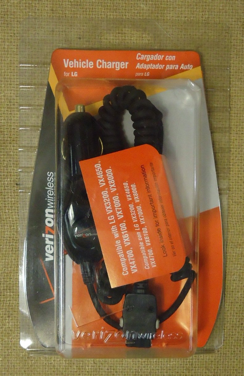 Verizon Wireless 160352A201 Cell Phone Car Charger Plastic Metal