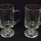 Set of 4 Clear Mugs 5 1/2in x 4in x 3in Glass